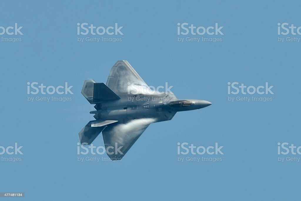 F-22 Raptor Jet Fighter From Above stock photo