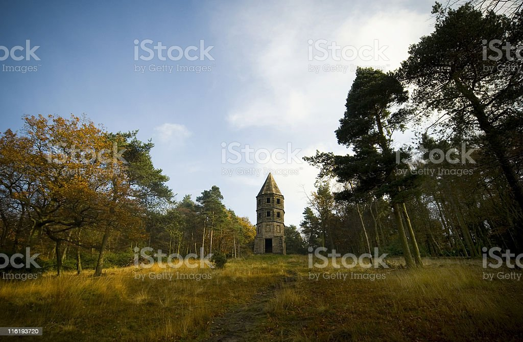 Rapunzels tower stock photo