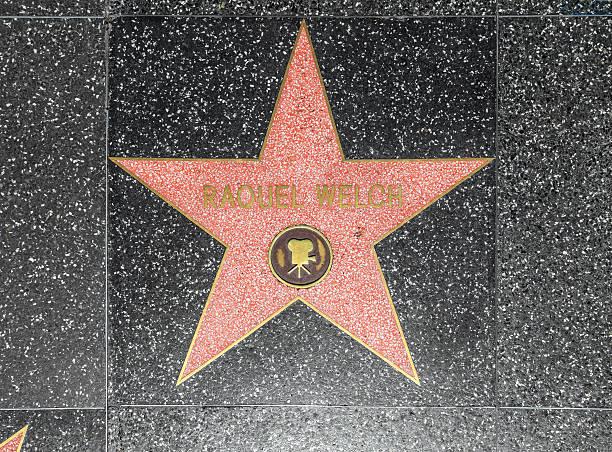 raquel welchs stern auf hollywood walk of fame - rachel welch stock-fotos und bilder