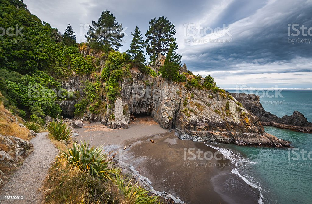 Rarangi Beach, New Zealand stock photo