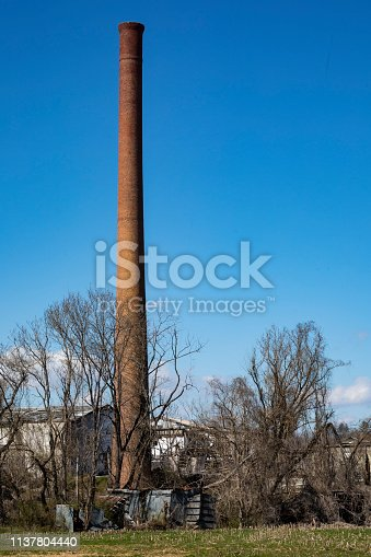 istock Rare Brick Smokestack 1137804440
