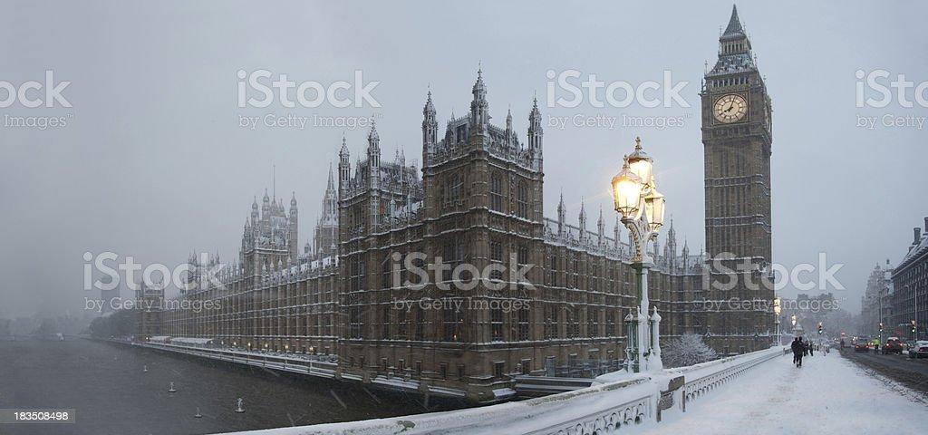 Rare London Snow Storm stock photo