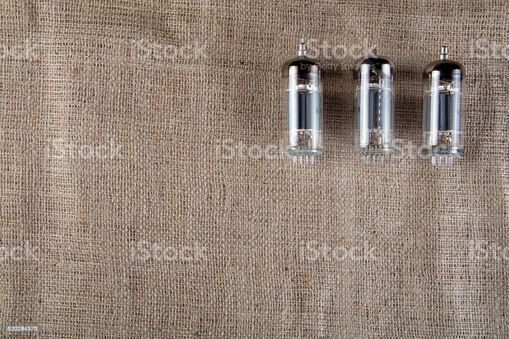 Rare vacuum tubes. stock photo