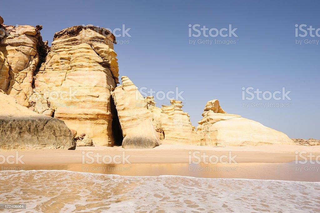 Ras al-Jinz beach stock photo