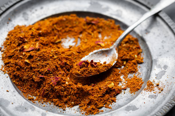 Ras el hanout Spice mix Ras el hanout, a spice mix from North Africa allspice stock pictures, royalty-free photos & images