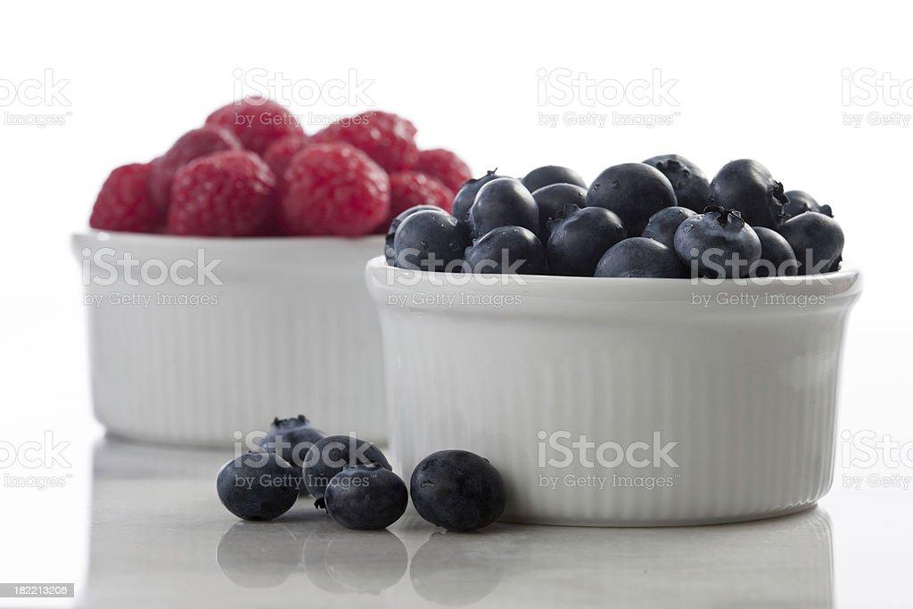 Rasberries and Blueberries Fruit royalty-free stock photo