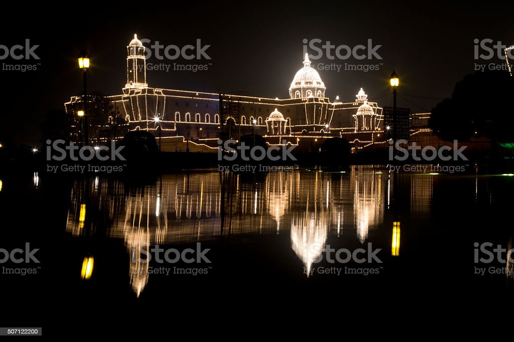 Rashtrapati Bhavan, House of the Indian President, New Delhi, India stock photo
