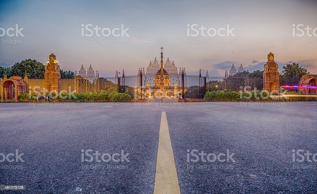 Rashtrapati Bhawan stock photo