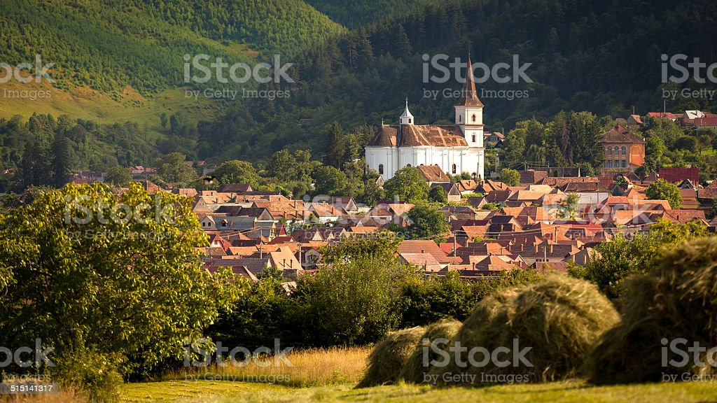 Rasinari Church, Sibiu - Marginimea Sibiului stock photo
