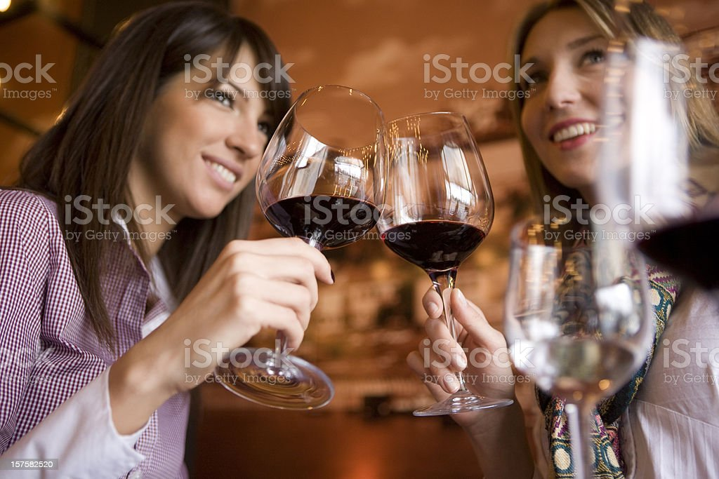 Rasing glasses royalty-free stock photo