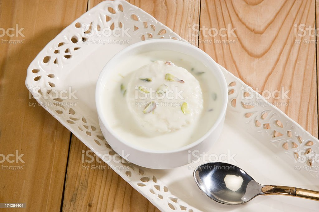 Rasmalai stock photo