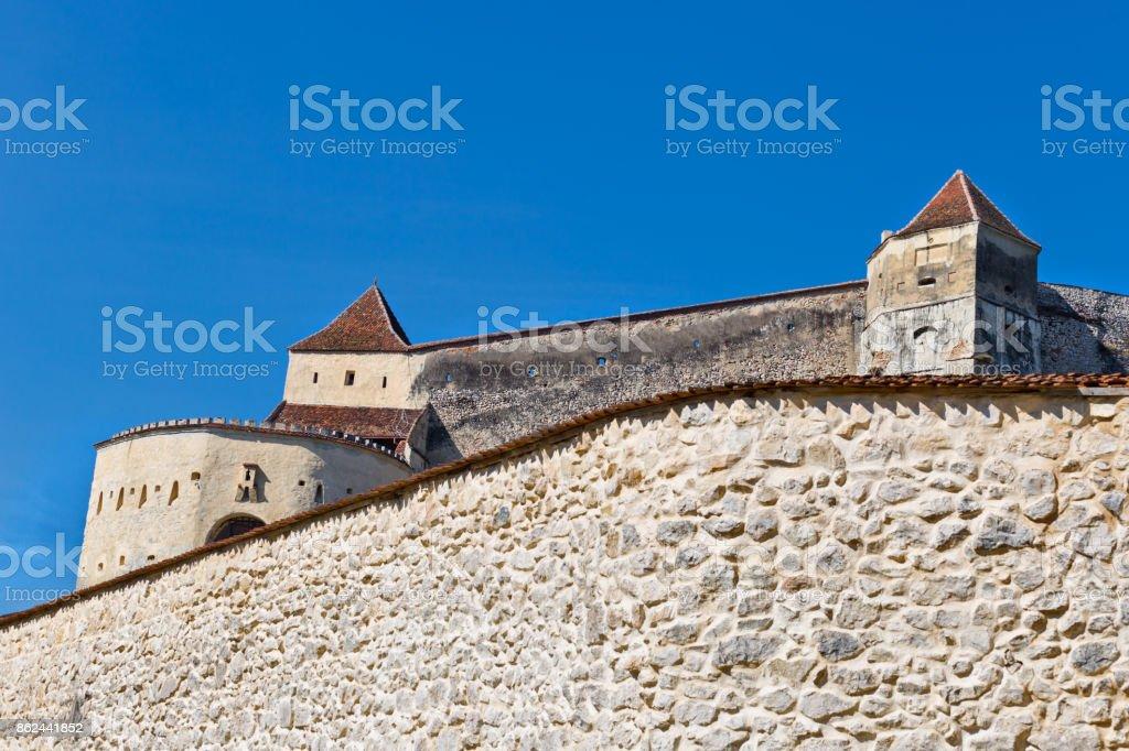 Rasnov citadel in Romania stock photo