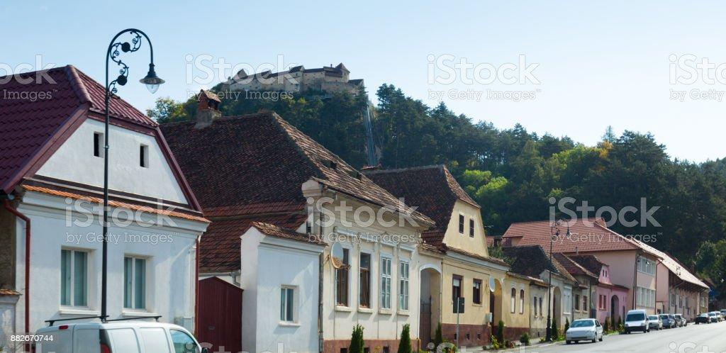 Rasnov Citadel, Romania stock photo