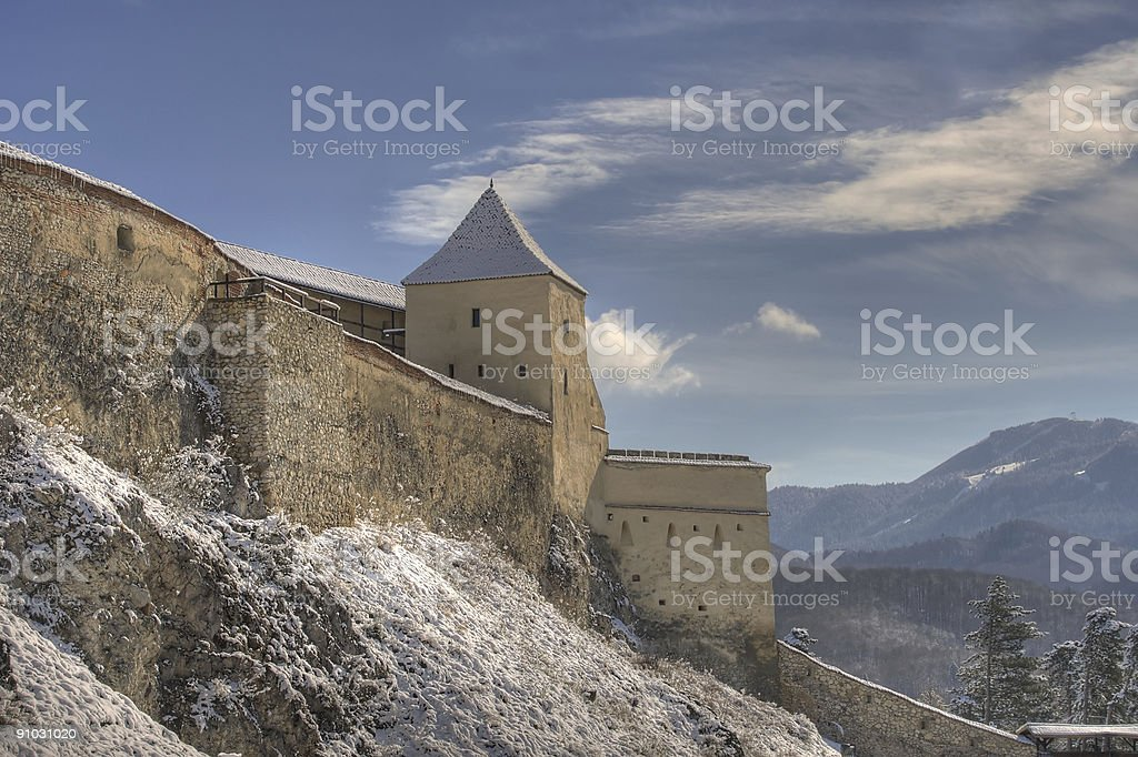 Rasnov Fortress royalty-free stock photo
