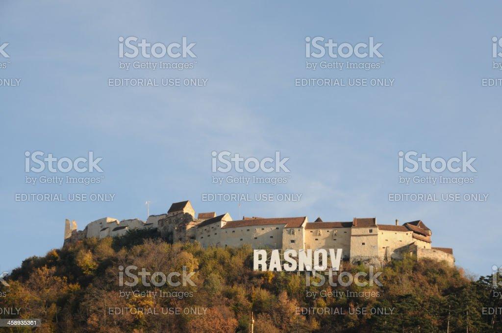 Rasnov Fortress, Transylvania, Romania royalty-free stock photo