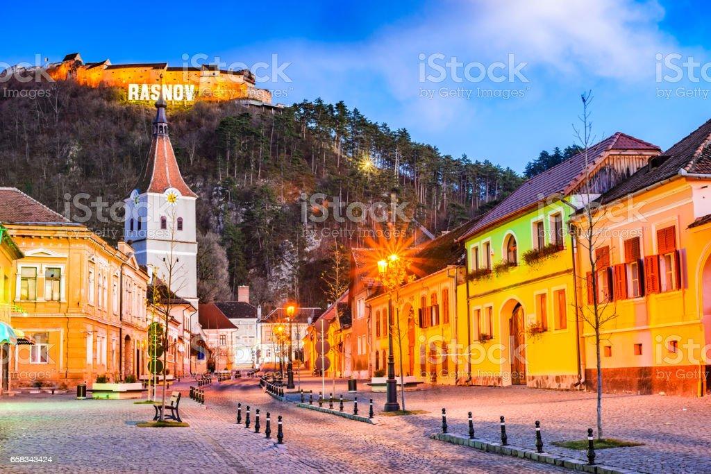 Rasnov, Romania stock photo
