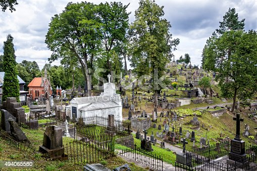 Rasos Cemetery is the oldest and most famous cemetery in the city of Vilnius, Lithuania