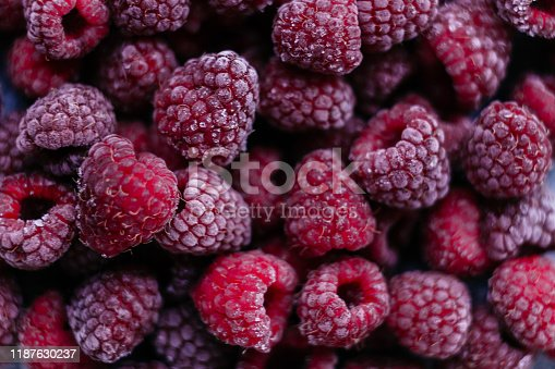 istock Raspberries, frozen raspberries, berries covered with hoarfrost. Background.Raspberry Background.Macro Raspberry Pink Background 1187630237