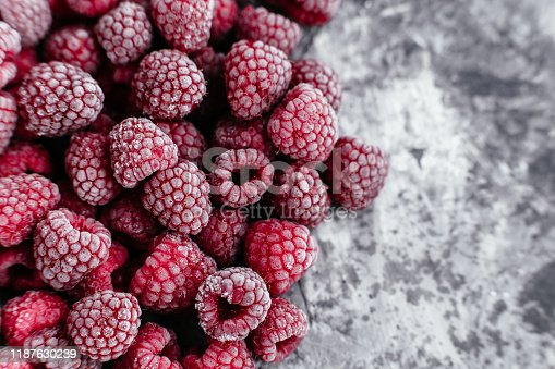 istock Raspberries, frozen raspberries, berries covered with hoarfrost. Background.Raspberry Background.Macro Raspberry Pink Background 1187630239