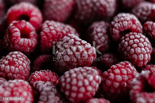 istock Raspberries, frozen raspberries, berries covered with hoarfrost. Background.Raspberry Background.Macro Raspberry Pink Background 1187630245