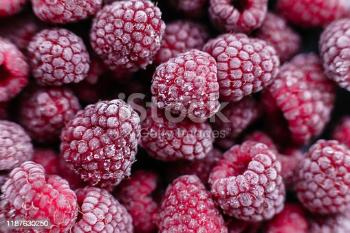 istock Raspberries, frozen raspberries, berries covered with hoarfrost. Background.Raspberry Background.Macro Raspberry Pink Background 1187630250