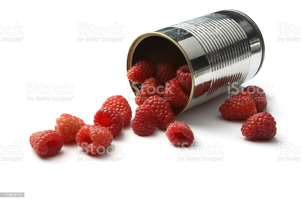 *Raspberries in Can royalty-free stock photo