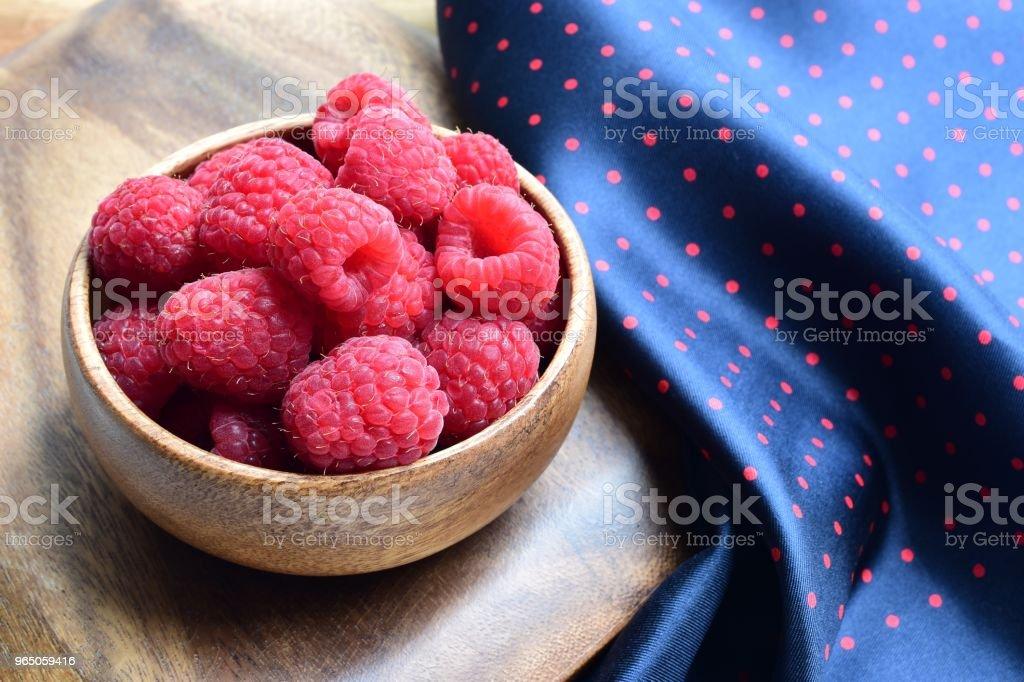 Raspberries zbiór zdjęć royalty-free