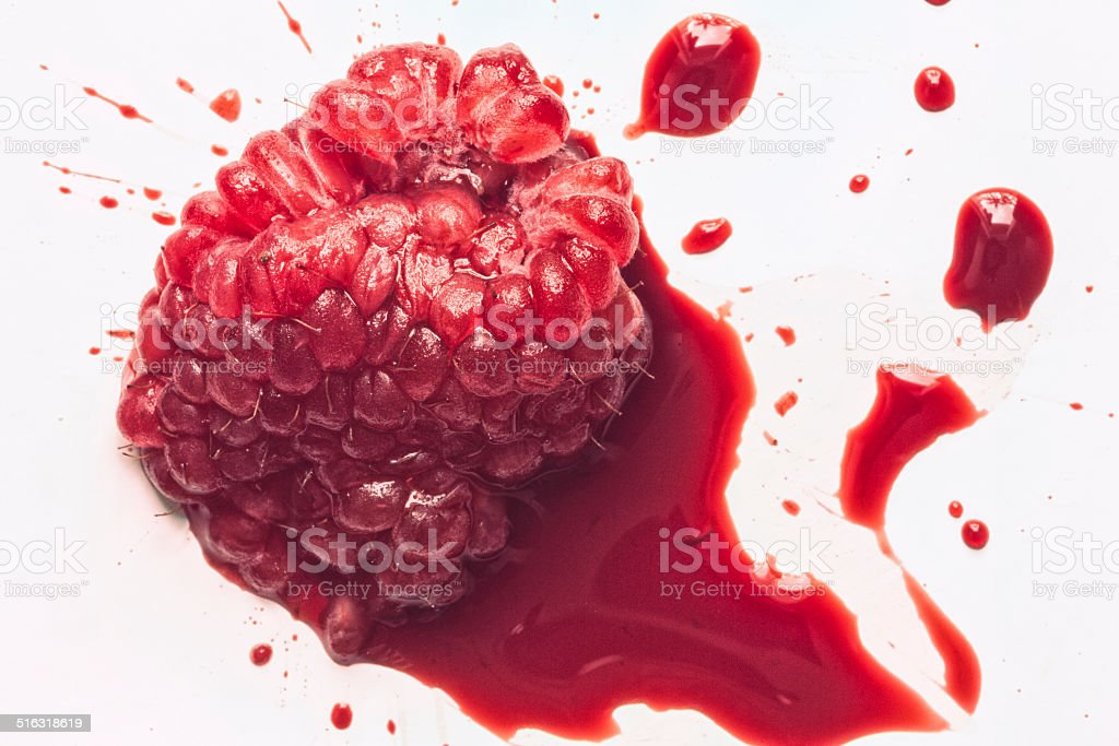 Raspberry Bleeding stock photo