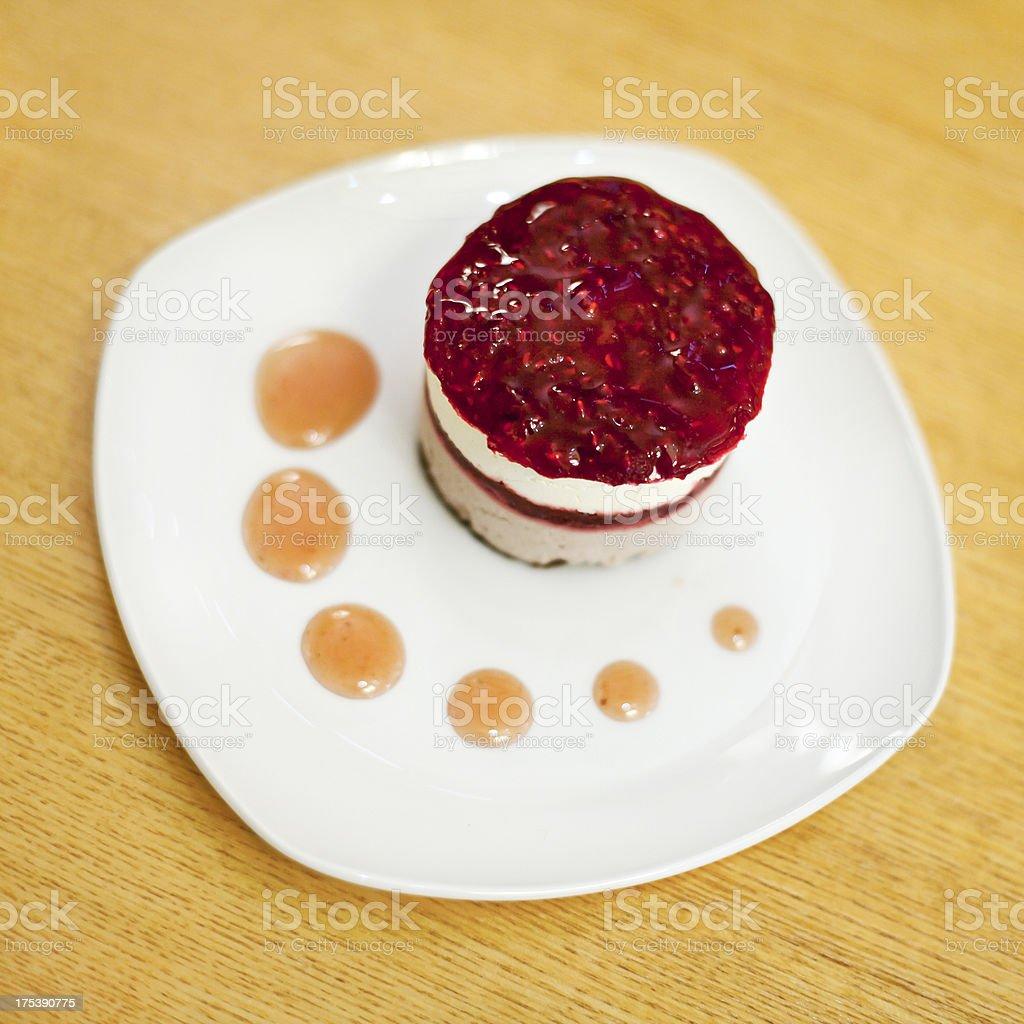 Raspberry cake stock photo