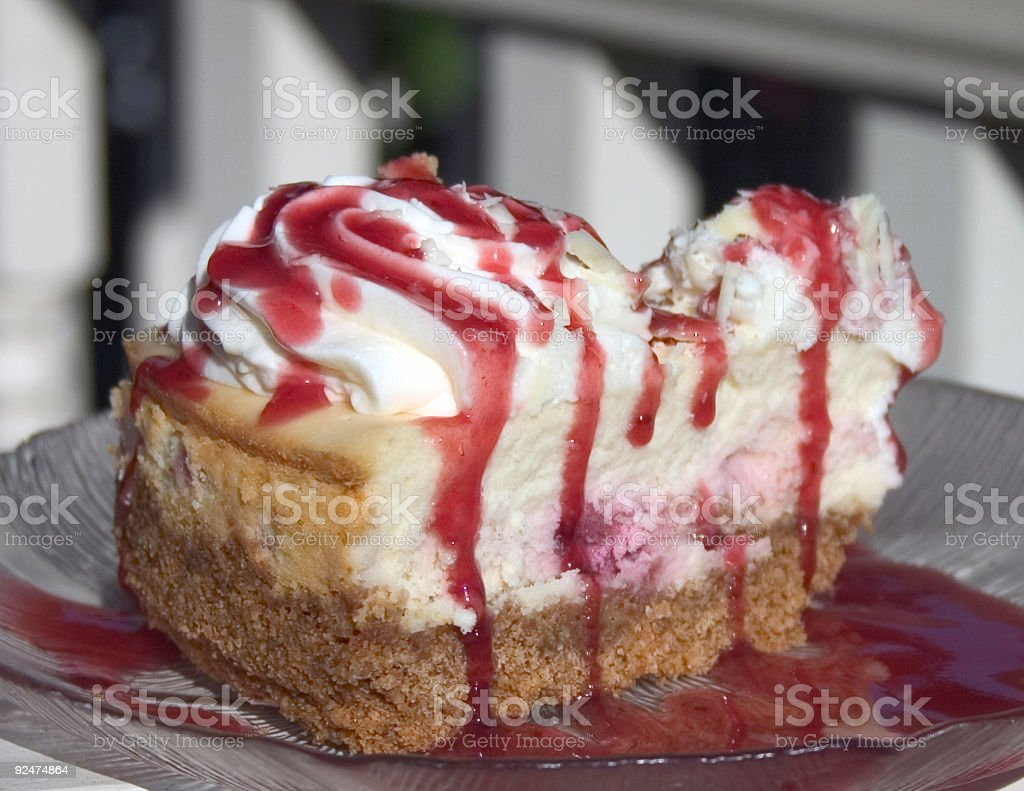 Raspberry Cheese Cake royalty-free stock photo