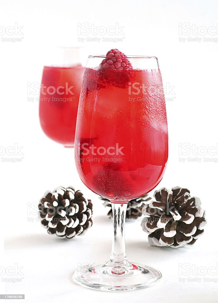 Raspberry cocktail stock photo