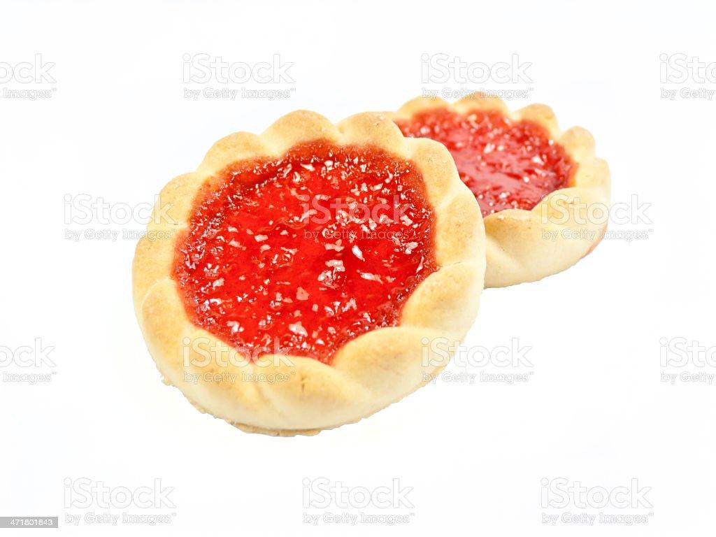 Raspberry cookies. royalty-free stock photo