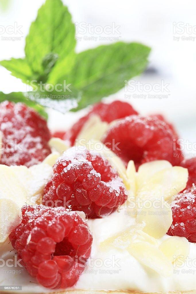 Raspberry dessert royalty-free stock photo