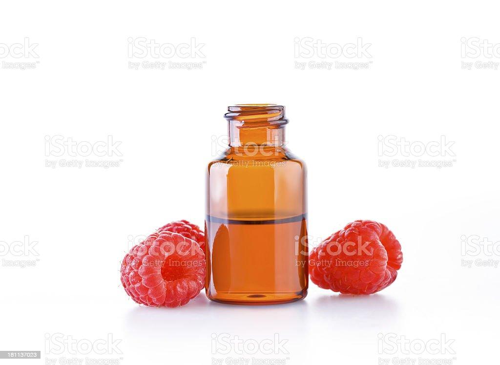 Raspberry essential oil royalty-free stock photo