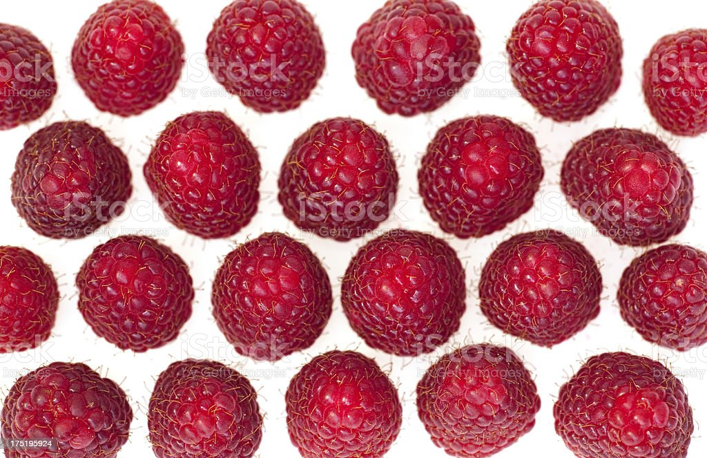 raspberry from above stock photo