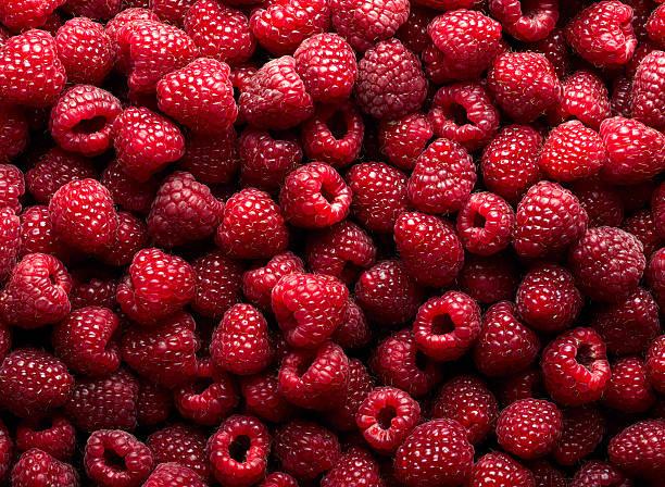 raspberry fruit background - hallon bildbanksfoton och bilder