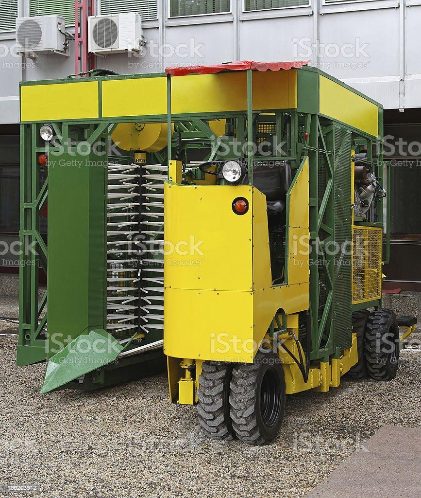 Raspberry harvesting equipment royalty-free stock photo