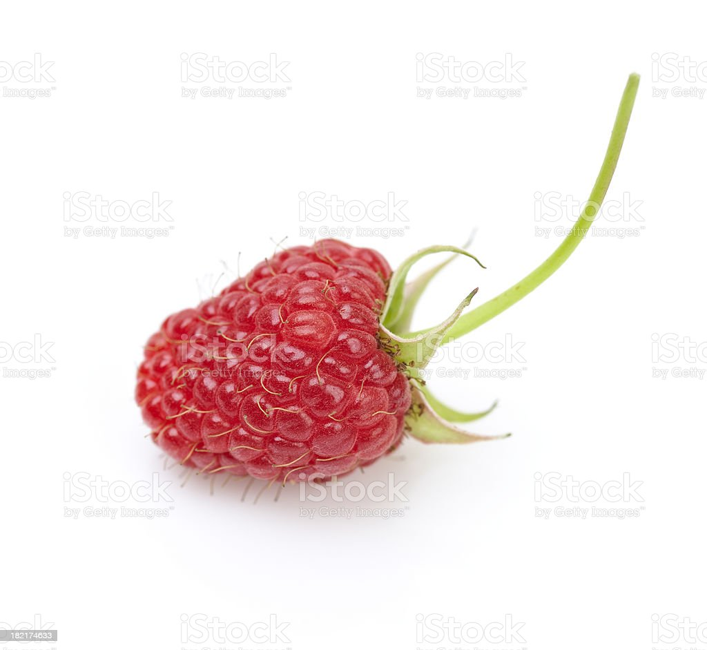 Raspberry isolated on white royalty-free stock photo