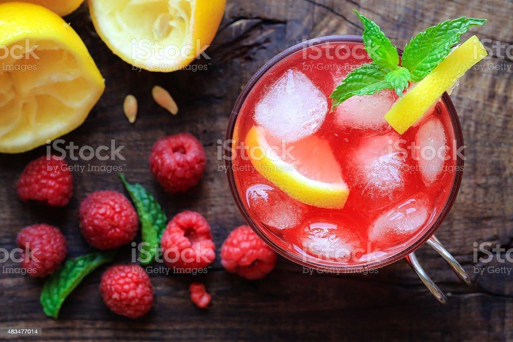 Raspberry lemonade stock photo