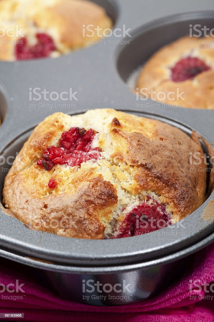 Raspberry muffins royalty-free stock photo