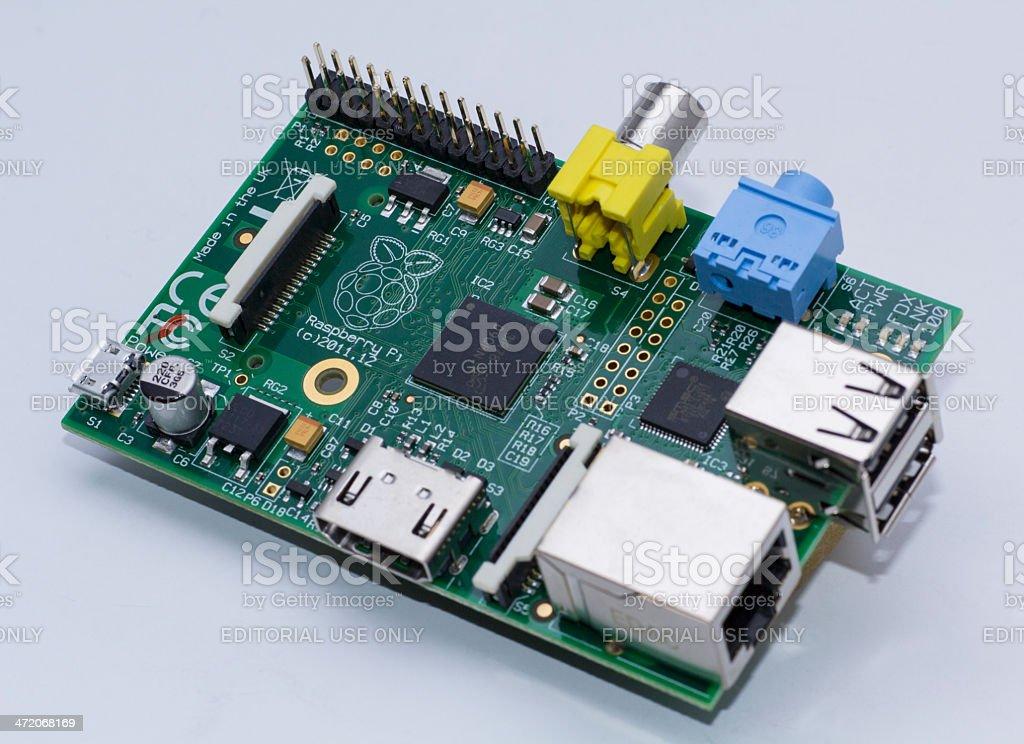 Raspberry Pi Model B UK stock photo