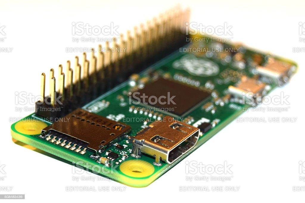Raspberry Pi Zero stock photo