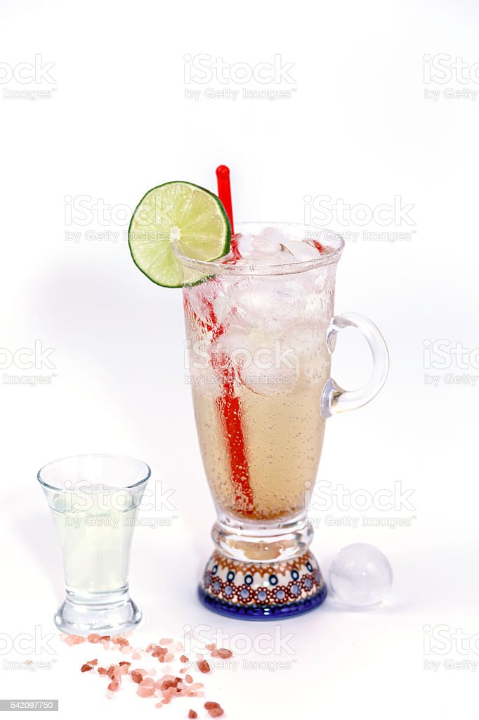 Raspberry soda drink stock photo