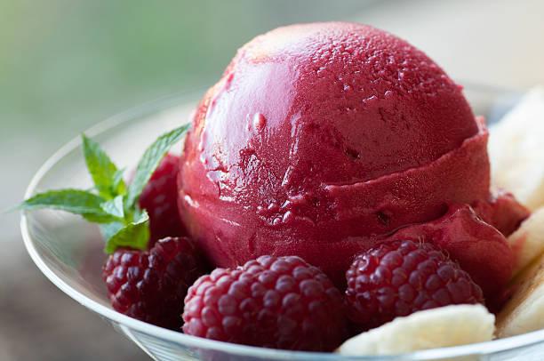 Raspberry Sorbet stock photo