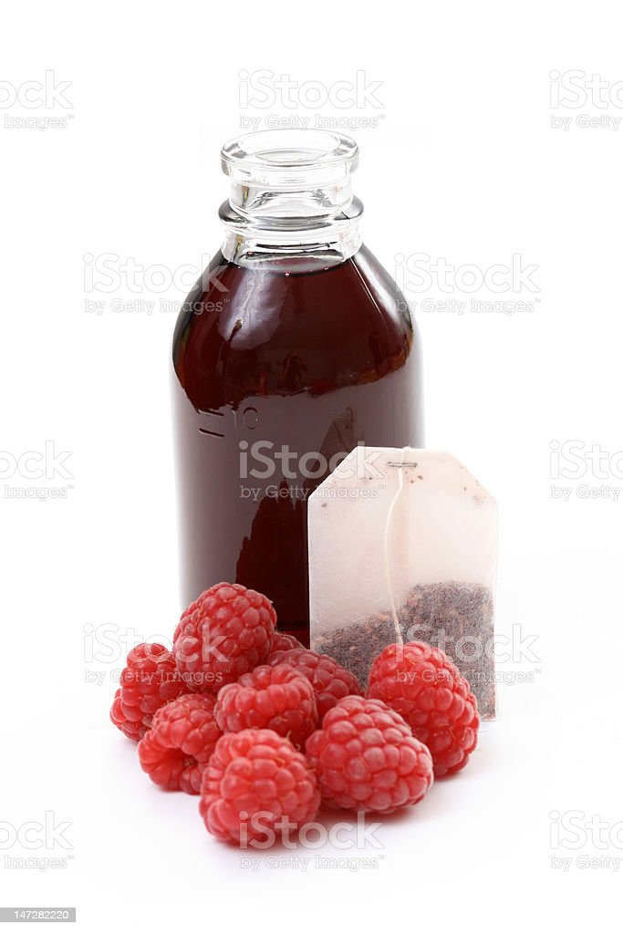 raspberry syrup royalty-free stock photo