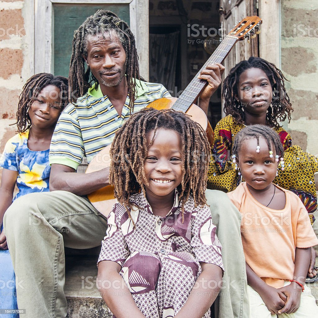 Rasta family. stock photo