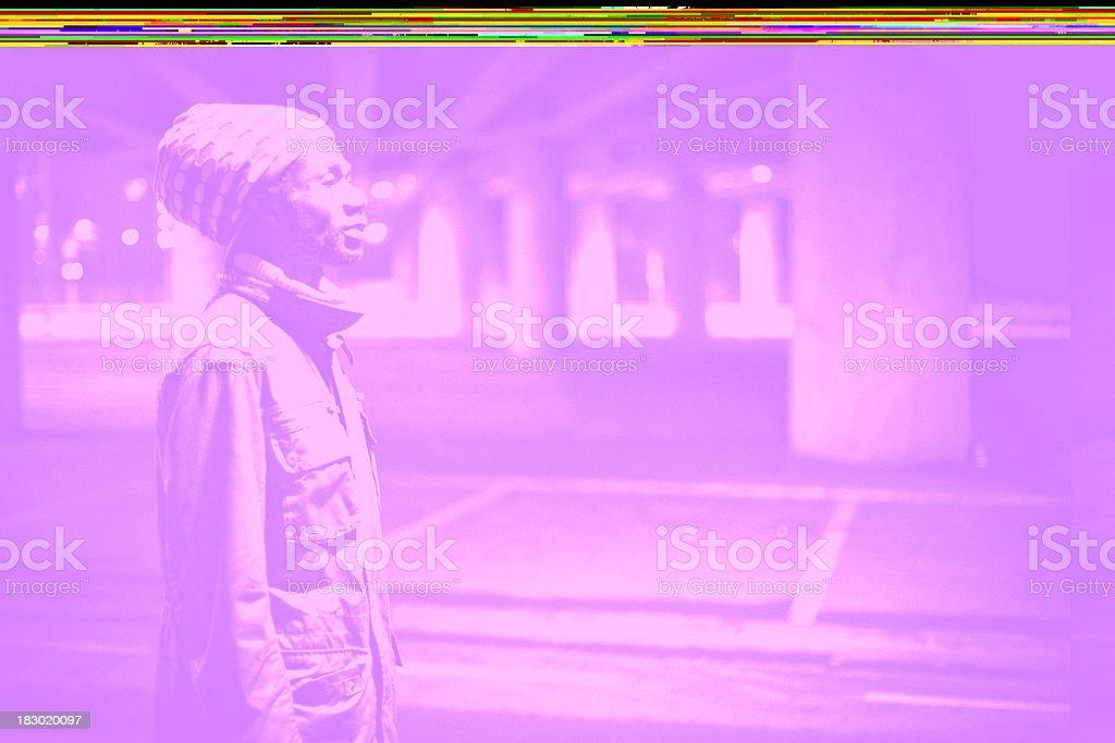 rasta in concrete jungle stock photo