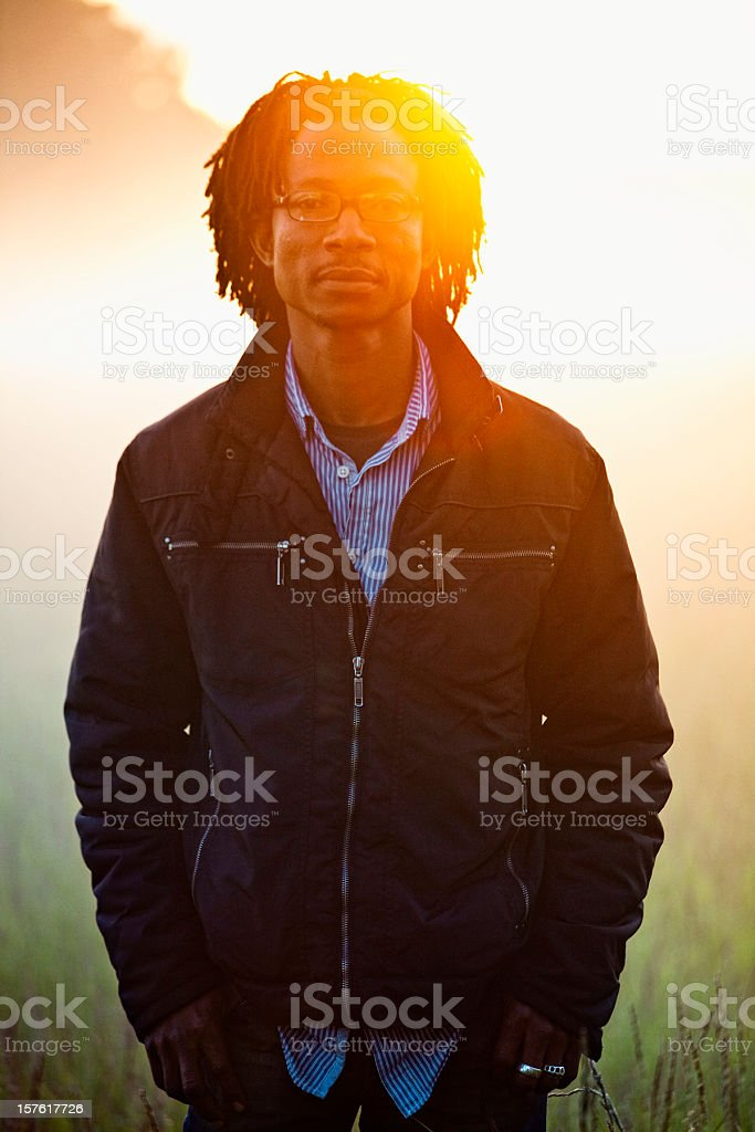 rasta in sunrise light stock photo