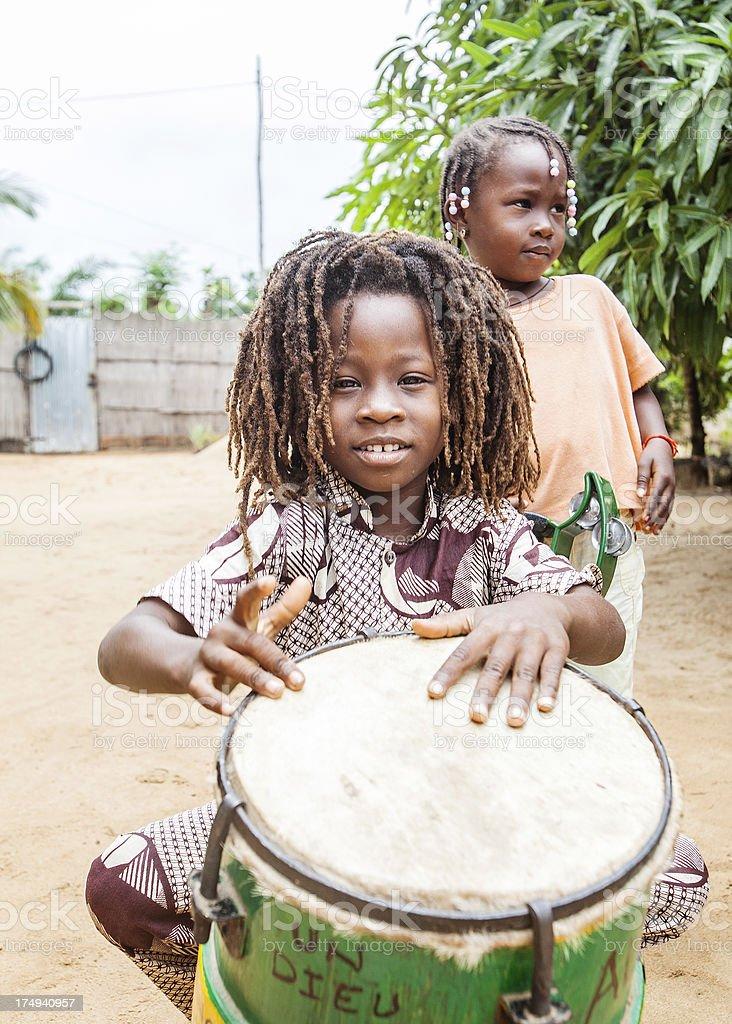 Rastaboy with drum. stock photo