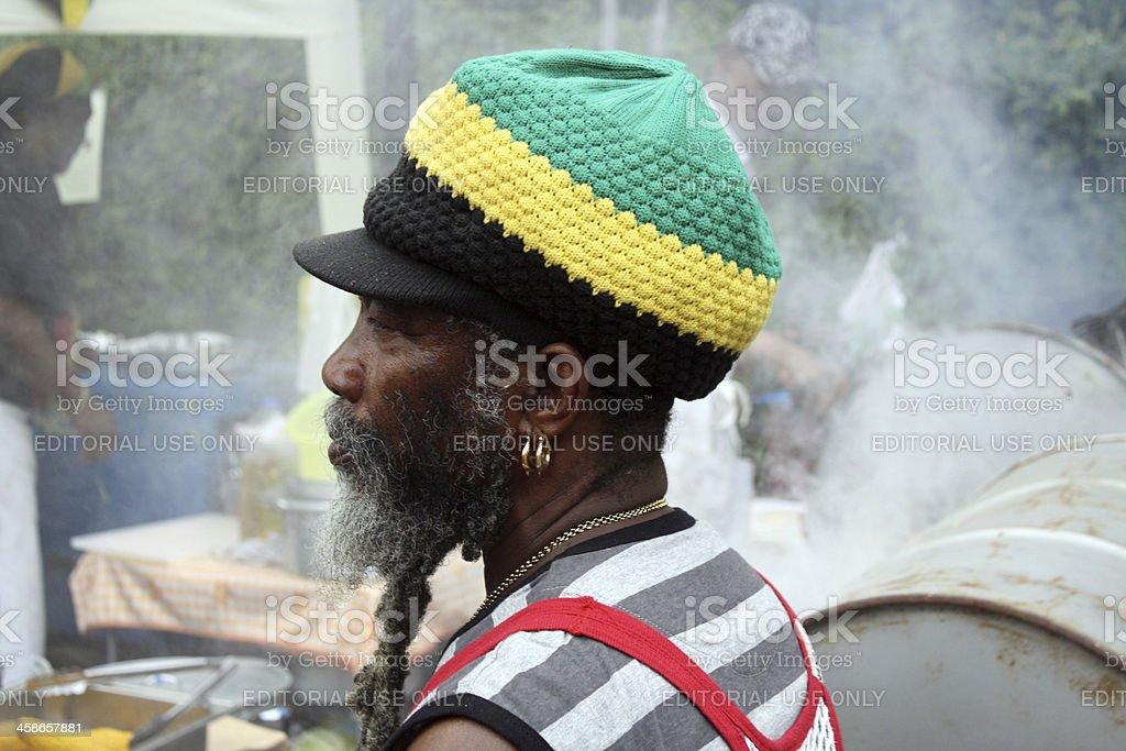 Rastafarian chef, Notting Hill Carnival stock photo